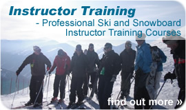 Ski Instructor Training and Snowboard Instructor Training - click for more info
