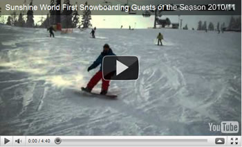 Click to view Sunshine World First Snowboarding Guests of the 2010/11 season