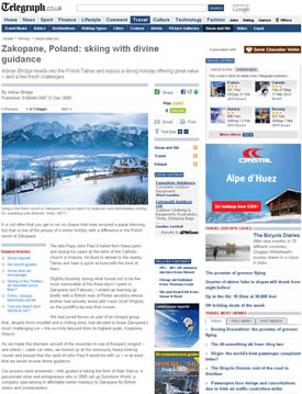 Zakopane, Poland: skiing with divine guidance